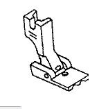 (Slant) Double Piping / Welting Foot 1/8 Inch. (# P6069S-1/8) Click for model info.