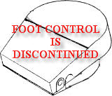 Foot Control Is Discontinued, It Is No Longer Available