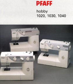 Pfaff Hobby 1040 Instruction Manual