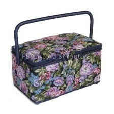 Medium Rectangle Sewing Basket with Handle (ZA1000) Click for model info.