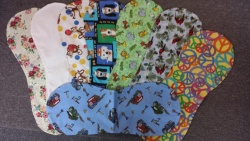 Boys Nursing Feeding Burp Cloths Set Of Three