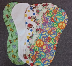 Girls: Nursing Feeding Burp Cloths Set Of Three Colors and Prints May Vary